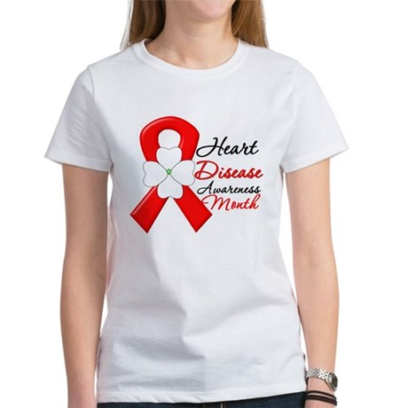 FlowerRibbonHeartDisease Women's T-Shirt