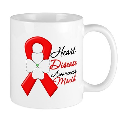 FlowerRibbonHeartDisease Mug