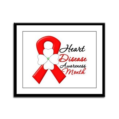 FlowerRibbonHeartDisease Framed Panel Print