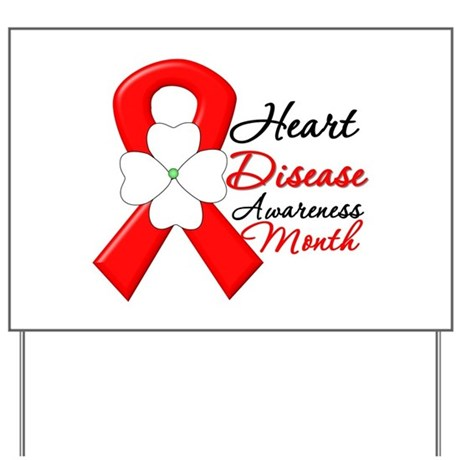 FlowerRibbonHeartDisease Yard Sign
