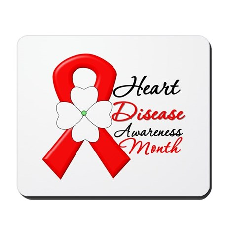 FlowerRibbonHeartDisease Mousepad