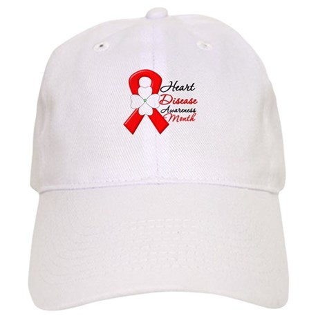 FlowerRibbonHeartDisease Cap