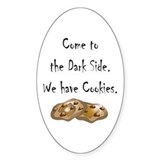 Come to the Dark Side Oval Sticker (10 pk)