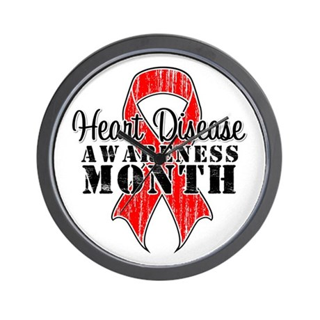 RedGrungeHeartDisease Wall Clock