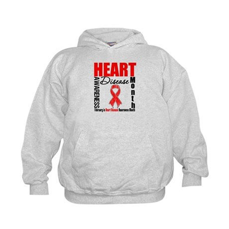 AwarenessMonthHeartDisease Kids Hoodie