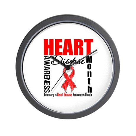 AwarenessMonthHeartDisease Wall Clock