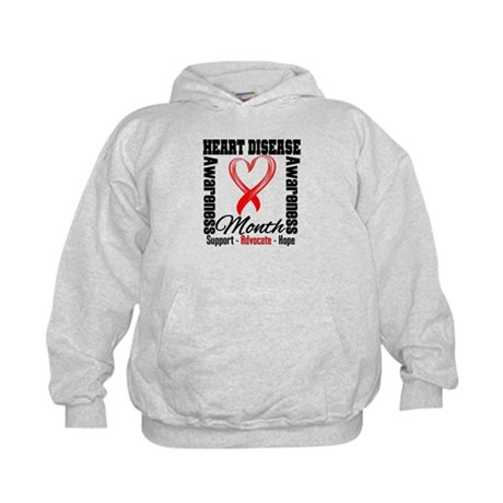 SupportHeartDiseaseMonth Kids Hoodie