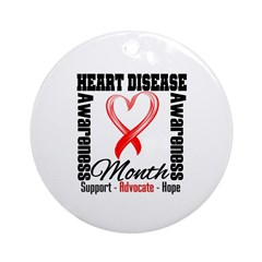 SupportHeartDiseaseMonth Ornament (Round)