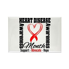 SupportHeartDiseaseMonth Rectangle Magnet (100 pac