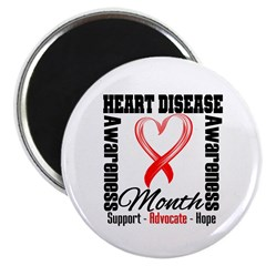 SupportHeartDiseaseMonth 2.25&quot; Magnet (100 pack)