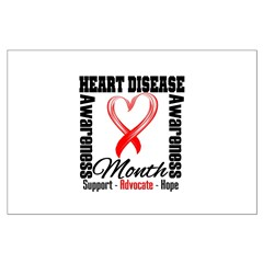 SupportHeartDiseaseMonth Large Poster