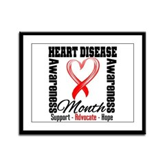 SupportHeartDiseaseMonth Framed Panel Print