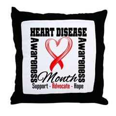 SupportHeartDiseaseMonth Throw Pillow