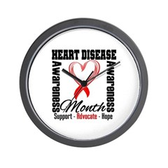 SupportHeartDiseaseMonth Wall Clock
