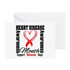 SupportHeartDiseaseMonth Greeting Cards (Pk of 10)