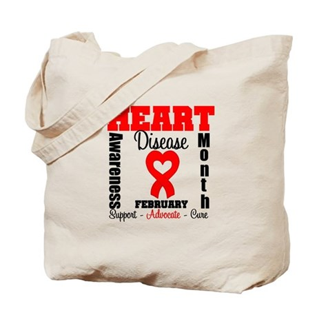 HeartDiseaseRibbonMonth Tote Bag