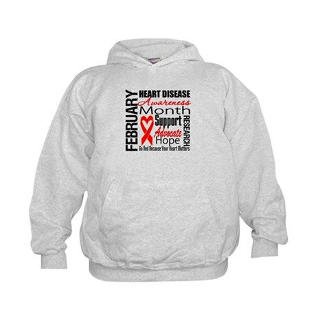 CollageHeartDisease Kids Hoodie