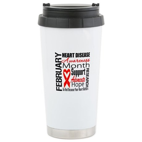 CollageHeartDisease Ceramic Travel Mug