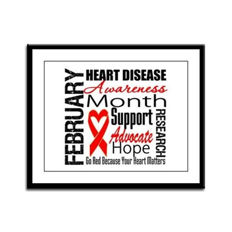 CollageHeartDisease Framed Panel Print