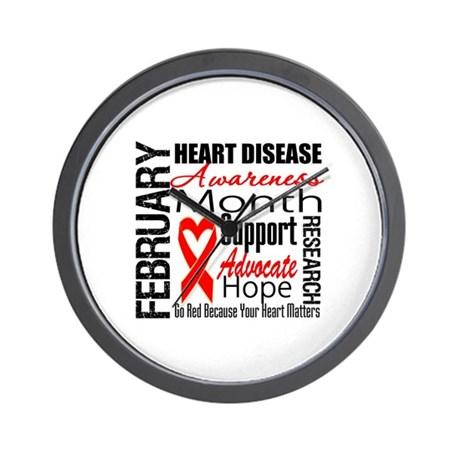 CollageHeartDisease Wall Clock