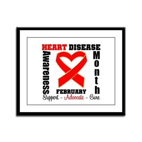 HeartDiseaseRibbonMonth Framed Panel Print