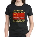 Boycott Red China Women's Dark T-Shirt