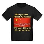 Boycott Red China Kids Dark T-Shirt