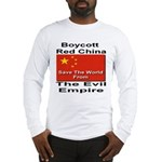 Boycott Red China Long Sleeve T-Shirt