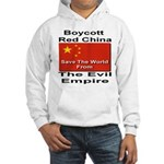 Boycott Red China Hooded Sweatshirt