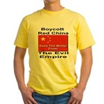Boycott Red China Yellow T-Shirt