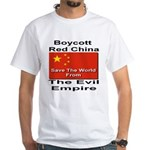 Boycott Red China White T-Shirt