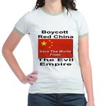 Boycott Red China Jr. Ringer T-Shirt