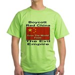 Boycott Red China Green T-Shirt