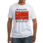 Boycott Red China Fitted T-Shirt