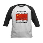 Boycott Red China Kids Baseball Jersey