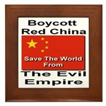 Boycott Red China Framed Tile