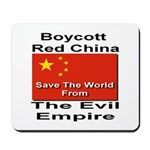 Boycott Red China Mousepad