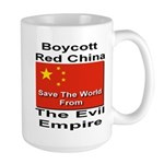 Boycott Red China Large Mug