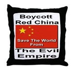 Boycott Red China Throw Pillow