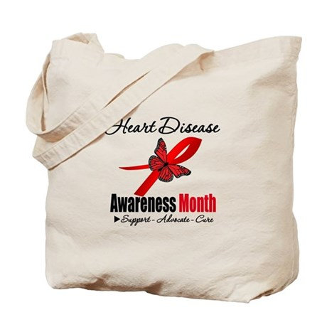ButterflyHeartDiseaseMonth Tote Bag