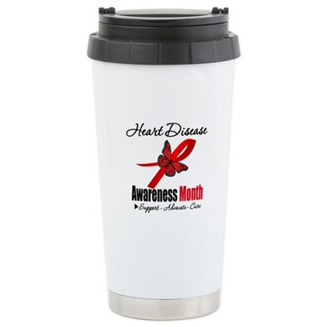 ButterflyHeartDiseaseMonth Ceramic Travel Mug