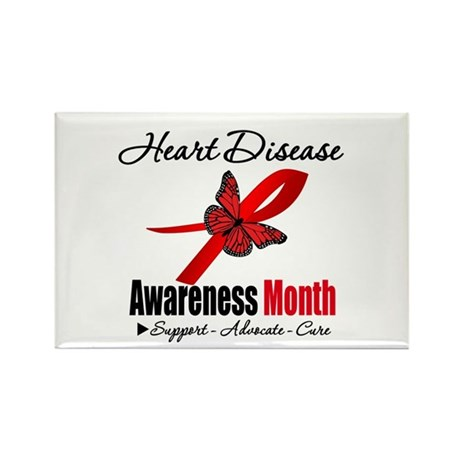 ButterflyHeartDiseaseMonth Rectangle Magnet