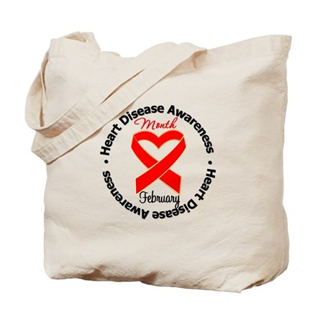 RedRibbonHeartDisease Tote Bag