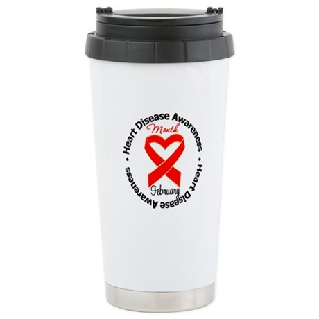 RedRibbonHeartDisease Ceramic Travel Mug