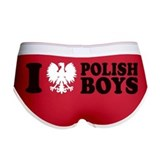 I Eagle Polish Boys Red Women's Boy Brief