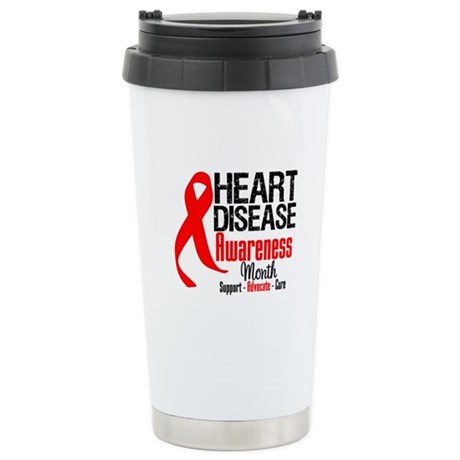 FebHeartDiseaseMonth Ceramic Travel Mug