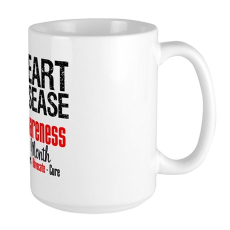 FebHeartDiseaseMonth Large Mug