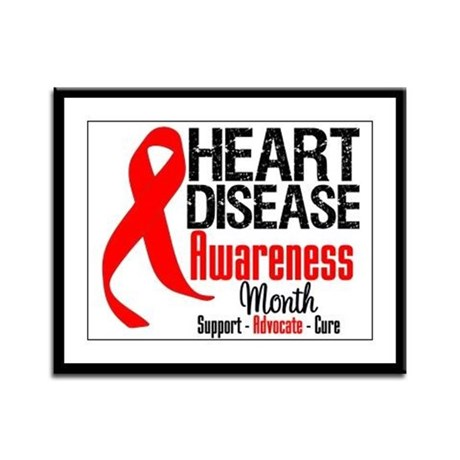 FebHeartDiseaseMonth Framed Panel Print
