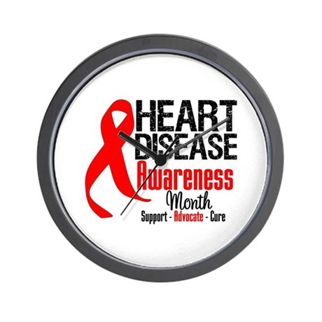 FebHeartDiseaseMonth Wall Clock