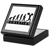 Evolution of Body Building Keepsake Box